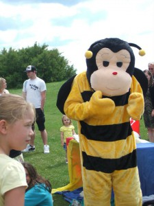 Mr Bumble at the Bee-fit picnic