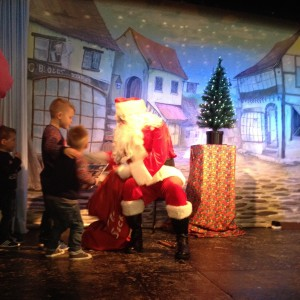 santa comes to bee-fit classes