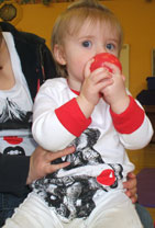 Child with Red Nose for Red Nose Day 2011